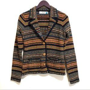 Anthro Sparrow Fair Isle Cardigan Blazer Sweater